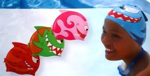 Obrázek pro výrobce 3048 Plavecká čepice dětská s ploutvičkou