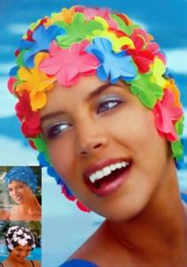 Obrázek pro výrobce 3191 Koupací čepice s květinami AKCE